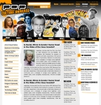 POP CULTURE PRODUCT SITE HOMEPAGE
