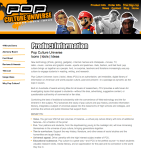 POP CULTURE MARKETING SITE DOWNPAGE