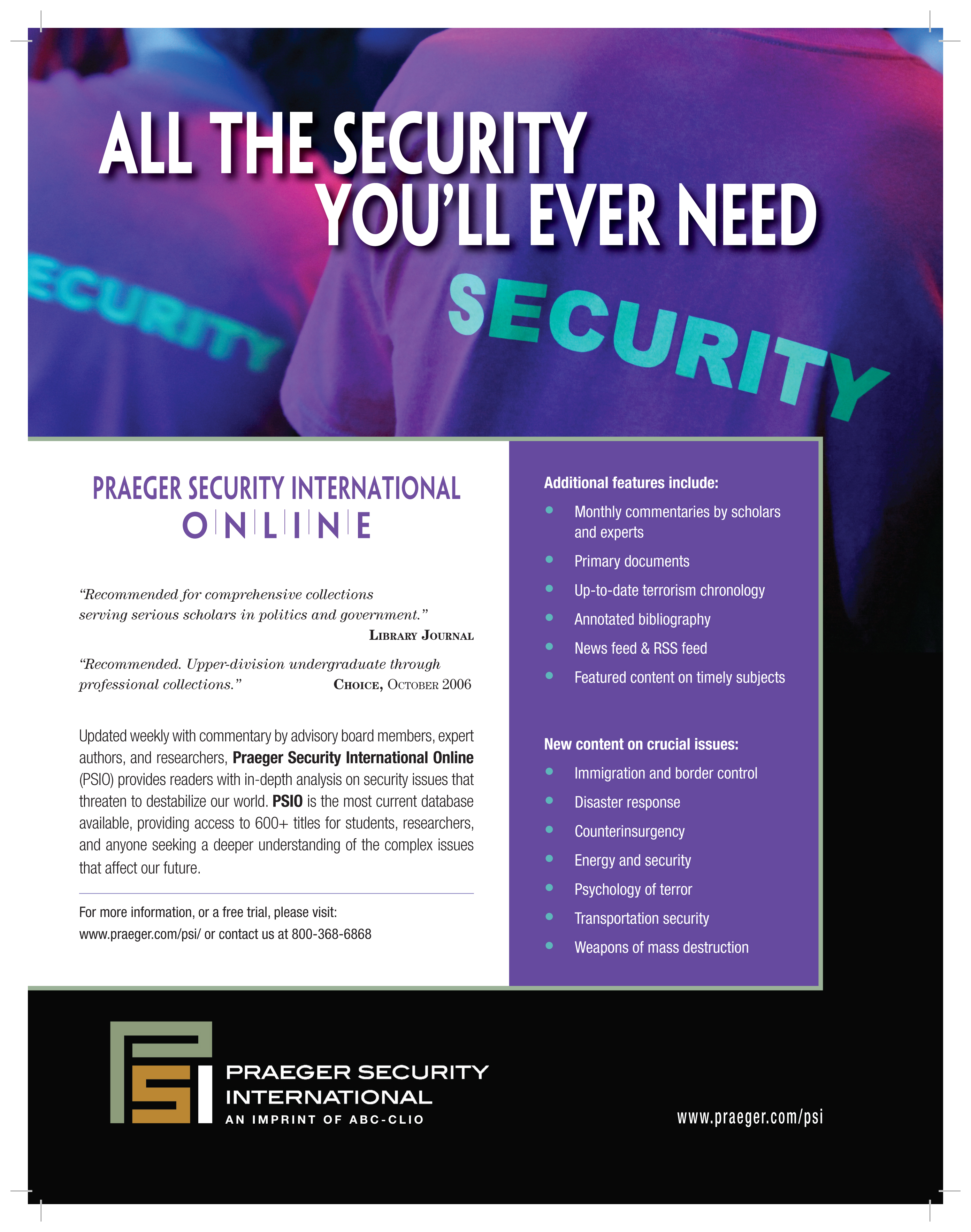 Praeger Security Online Advertisement